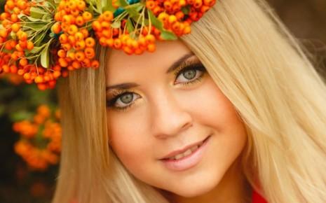 Венок с листьями