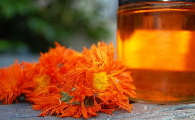 Букет оранжевых цветов