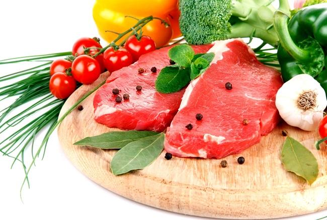 Мясо овощи