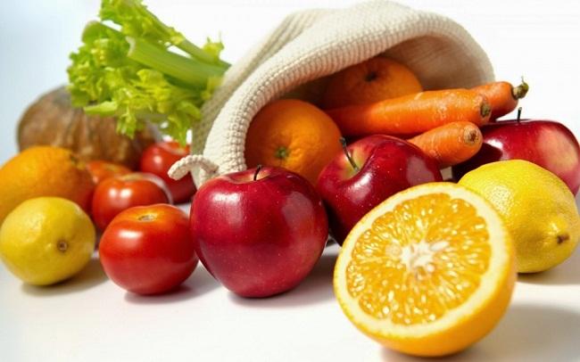 Апельсин и овощи