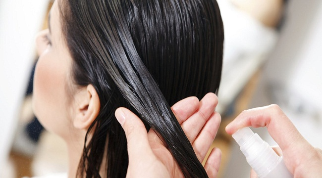 Опрыскивание волос