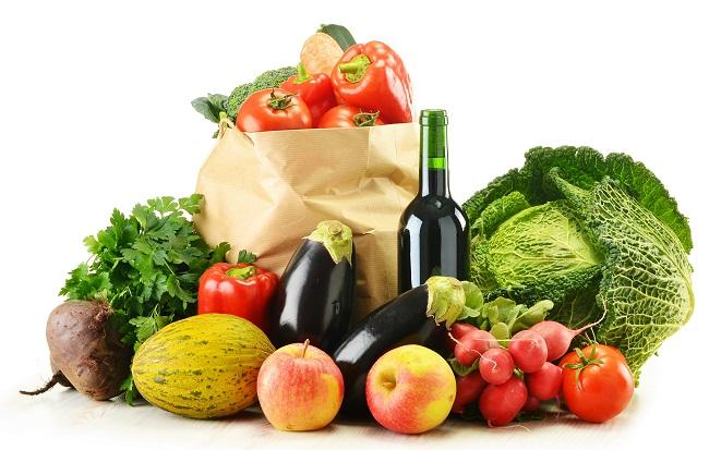 Овощи и вино